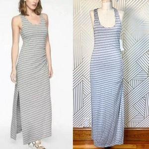 Athleta Playa Sleeveless Maxi Dress in Gray Stipe
